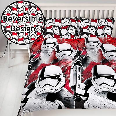 Star Wars The Last Jedi 'Trooper' Double Duvet Cover Bedding Set