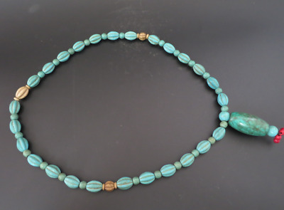 Old Chinese  jade, collectibles, Tibetan, turquoise, necklaces Y4167