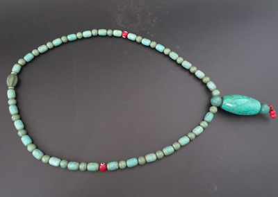 Old Chinese  jade, collectibles, Tibetan, turquoise, necklaces Y4170