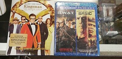 Kingsman The Golden Circle (Blu-Ray + DVD + Digital) + Basic / S.W.A.T new
