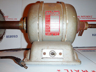 1954 Baldor 210 Dental Laboratory Lathe Polishing Grinder 2-Speed Motor 1/6HP