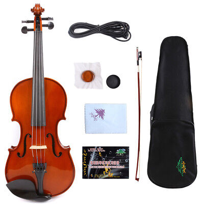 Professional 4/4 Electric Acoustic Violin Hand made Maple Spruce Fiddle