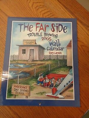 """2005 The Far Side """"Trouble Brewing"""" The Wall CalendarExcellent"""