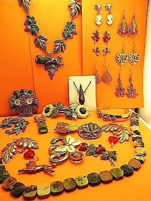 Vintage wholesale lot of Hand Crafted Jewelry lots European Art Nouveau  #3