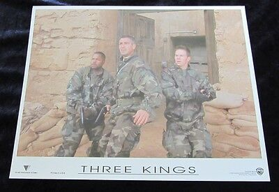 THREE KINGS lobby cards GEORGE CLOONEY, MARK WAHLBERG, ICE CUBE