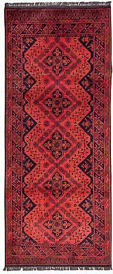 East Afghan Khal Mohammadi Rug 194 x 79 Cm Brown Runner Hand Knotted