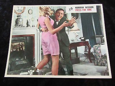 PRESS FOR TIME lobby card #7 NORMAN WISDOM