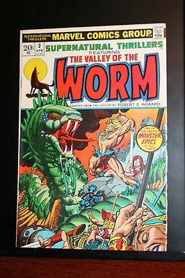 Supernatural Thrillers #3 Valley Of The Worm By Rober E. Howard! Marvel Comics