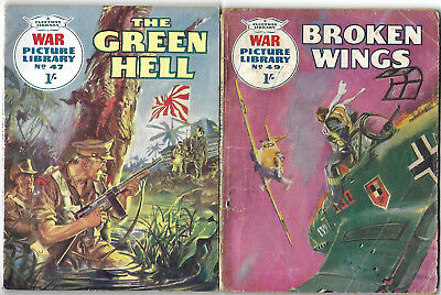 Dated 1960.  TWO x Vintage WAR PICTURE LIBRARY Comics #'s 47 and 49.