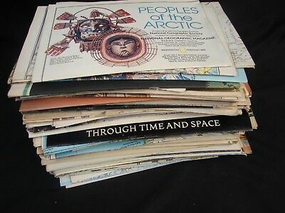 Vintage Lot Of 85 National Geographic Maps & Supplements 1970's - 1980's