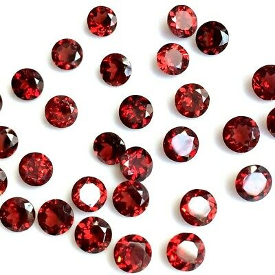 Wholesale Lot of 2.5mm to 6mm Round Mozambique Garnet Loose Calibrated Gemstone