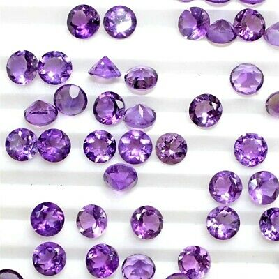 Wholesale Lot 6mm Round Facet Natural African Amethyst Loose Calibrated Gemstone