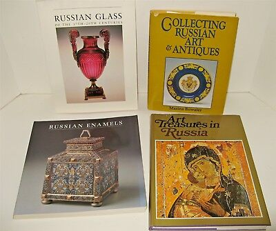 4 Antique Reference Books RUSSIAN ART ANTIQUES ENAMELS