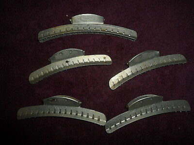 Vintage Goody And Tip Top Aluminum Wave Clamps-Lot Of 5