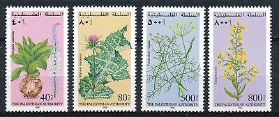 The Palestinian Authority - Medicinal Plants 1998 - Mnh Set Of 4