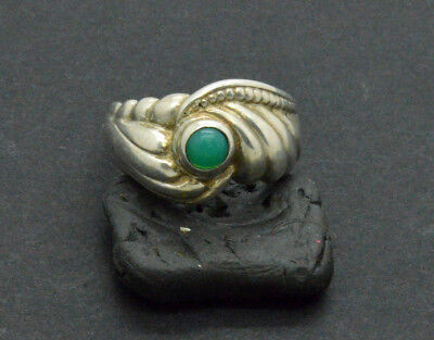 Antiquarian Silver Ring with Jasper gemstone. 20 Century