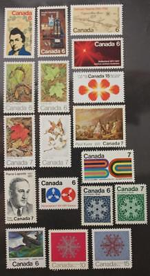 Canada 1971 Year Set, MNH OG, 18 Issues
