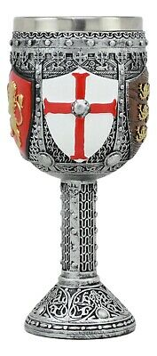 Medieval Knight Shield 7oz Wine Chalice Goblet With Stainless Steel Insert