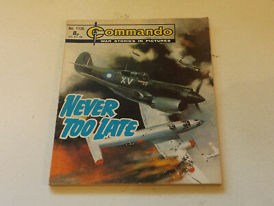 Commando War Comic Number 1136!!,1977 Issue,good For Age,41 Years Old,v Rare.