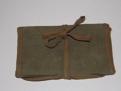 Vintage Wwii Korean War Us Army Personal Gear Cloth Sewing Kit Case - Empty