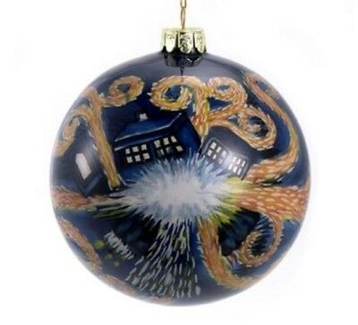 Doctor Who Starry Night Exploding Tardis Glass Ball Christmas Ornament DW4143