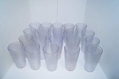 Cambro 3200P Drinking Glasses Lot 20 Usa Nice