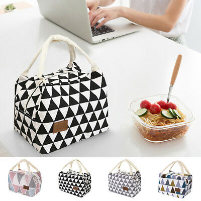 For Women Kids Men Thermal Insulated Lunch Box Tote Cooler Bag Bento Pouch