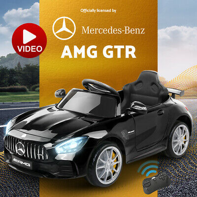Kids Ride On Car Mercedes-Benz AMG GTR Licensed Remote Electric Toy 12V Pink
