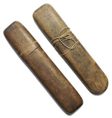 Original French WWI Issue Wood Eyeglass Cases