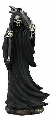 The Night Watchman Grim Reaper With Scythe Flipping Off Middle Finger Statue