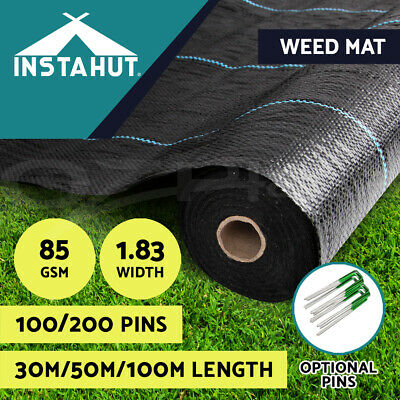 1.83m Weedmat Weed Control Mat Woven Fabric Gardening Plant 30m/50m/100m