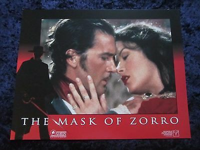 The Mask Of Zorro lobby card # 7 - Antonio Banderas, Catherine Zeta Jones