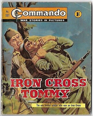 "Dated 1968. Vintage COMMANDO War Picture Comic # 351. ""Iron Cross Tommy"""