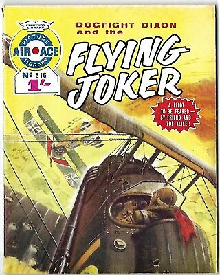 """Dated 1966. """"DOGFIGHT DIXON"""". AIR ACE Picture Library War Comic #316."""