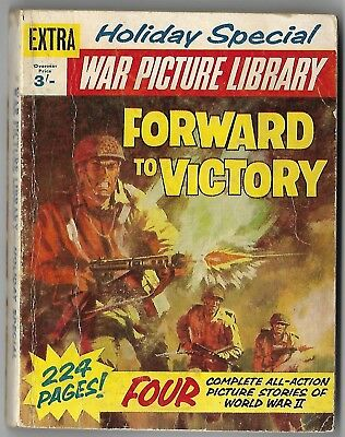 """1965. Early """"WAR PICTURE LIBRARY"""" Comic. HOLIDAY SPECIAL. 4 stories. 224 pages"""