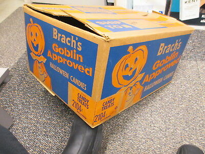 BRACH'S 1960s halloween candy box goblin approved pumpkin costume cartoon kid