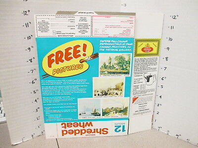 cereal box UK 1970s ? Nabisco Shredded Wheat premium famous paintings posters