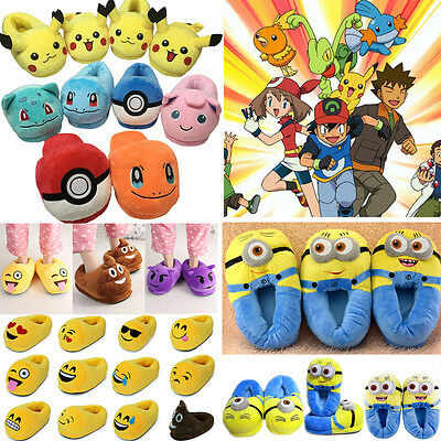 Unisex Soft Cute Casual Shoes Slippers Cartoon Cosplay Winter Warm Home Indoor
