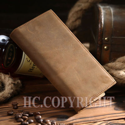 Men's Leather Long RFID Wallet Purse Bifold Credit Card Coins Holder Gift AU