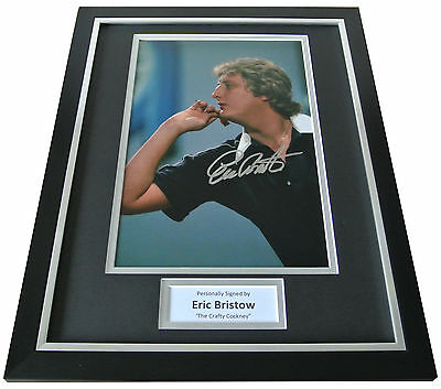 Eric Bristow SIGNED autograph A4 Photo Display Darts Private Signing PROOF /& COA