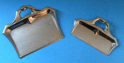 Vintage 2 piece set Manning bowman & Co.Stainless steel crumb butlers dust pan