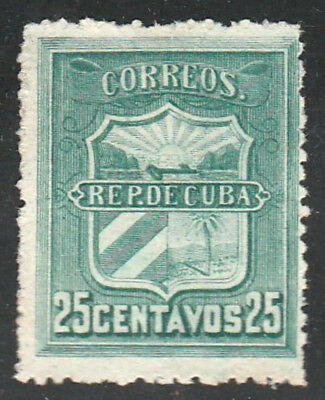 1896 Caribbean Stamps Edifil # 5  War of Independence Correo Mambi 25c  NEW