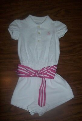 Baby Girls RALPH LAUREN One-Piece Outfit - Size 6 Months - New NWT  WHITE & PINK