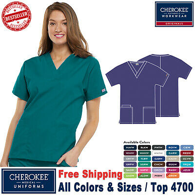 Cherokee Scrub Originals Women's Medical Traditional Classic Fit V-Neck Top_R