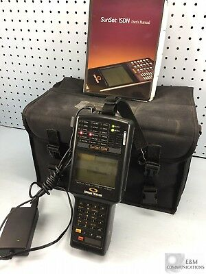 Ss400 Sunrise Telecom Sunset Handheld Bri Isdn Analyzer W/ Pwr Adapter & Case