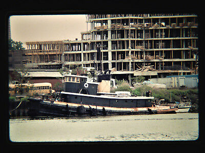 Original slide  tugboat  PEGASUS at Jersey City, NJ on 5-20-90