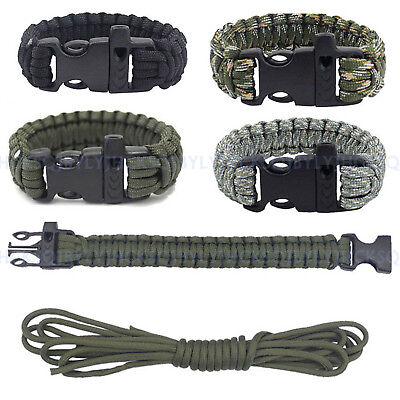 Outdoor Camping Emergency Tactical Survival Paracord Rope Bracelet Wristband 3me