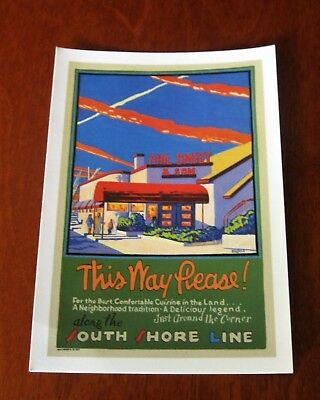 Phil Smidt's Restaurant commissioned poster Postcard by Mitchell A. Markovitz