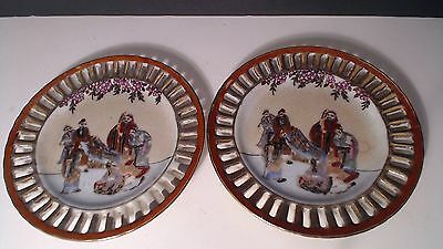 Early 20Th Century Chinese Export Porcelain Plates Reticulated Famille Rose #16