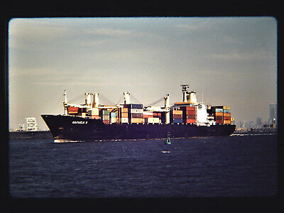 Original slide  Container Ship  RAFAELA S  off of Bayonne, NJ on 10-3-92